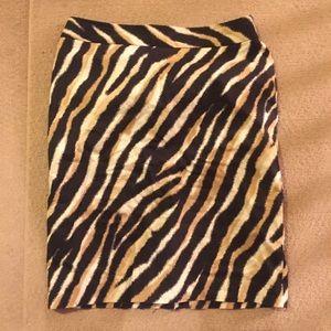 Talbots brown cheeta print skirt
